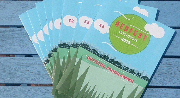 A sheaf of Redfest 2015 programmes