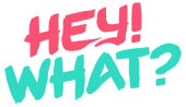 Hey! What? logo