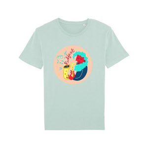 Carribean Blue Mural T Shirt
