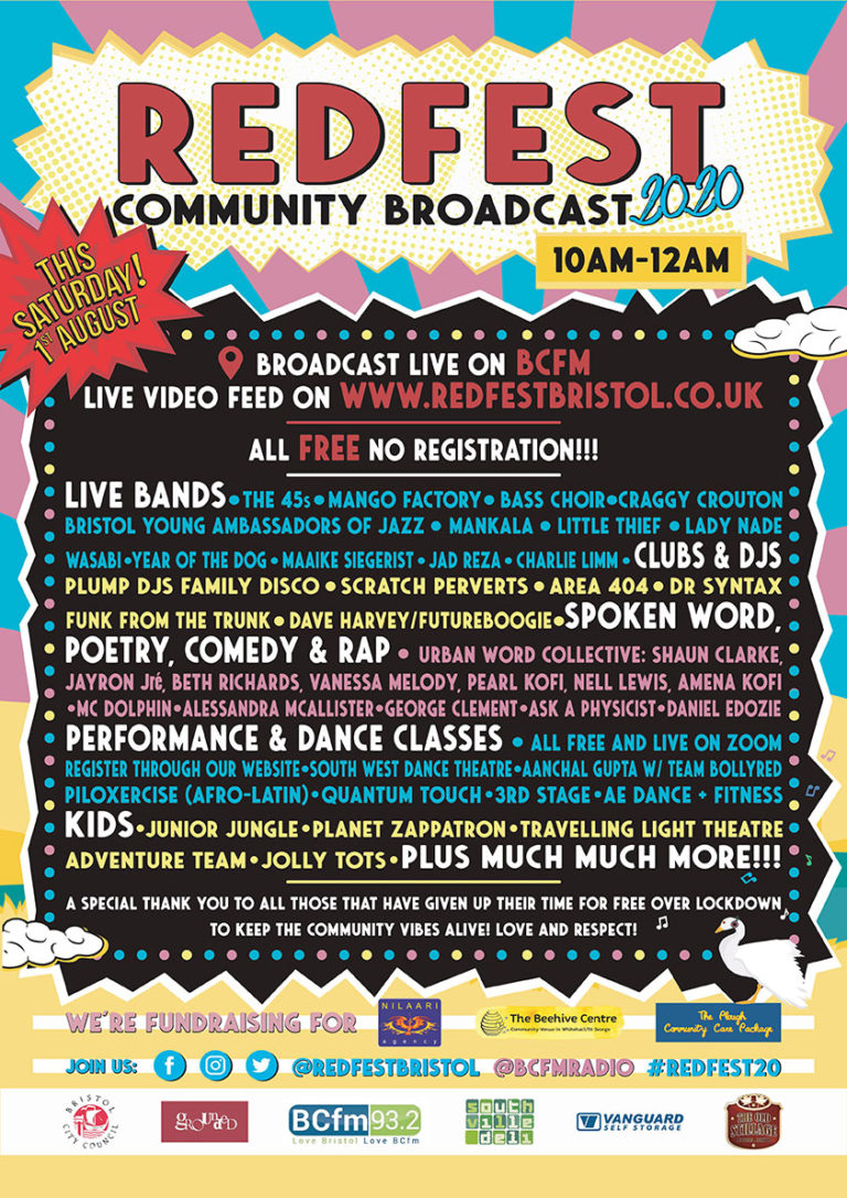Lineup of Redfest Community Broadcast